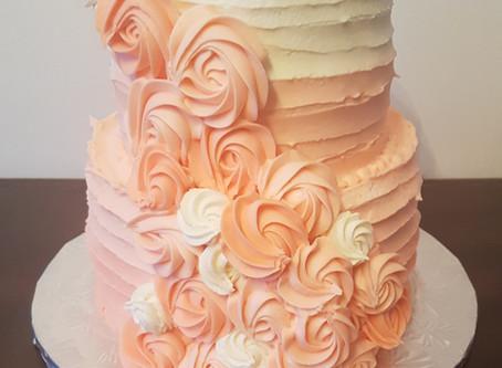 Iced Peach cake