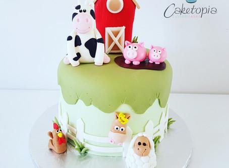 A farm yard cake