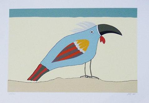 Pássaro Azul Serigrafia 33x40 cm