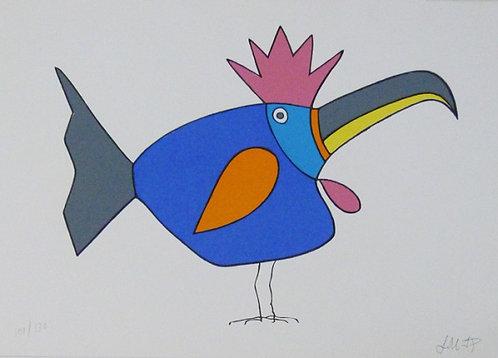 Fêmea Coroa Serigrafia 20x35 cm