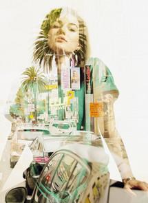 Double exposure art by AJ ft. El Wood