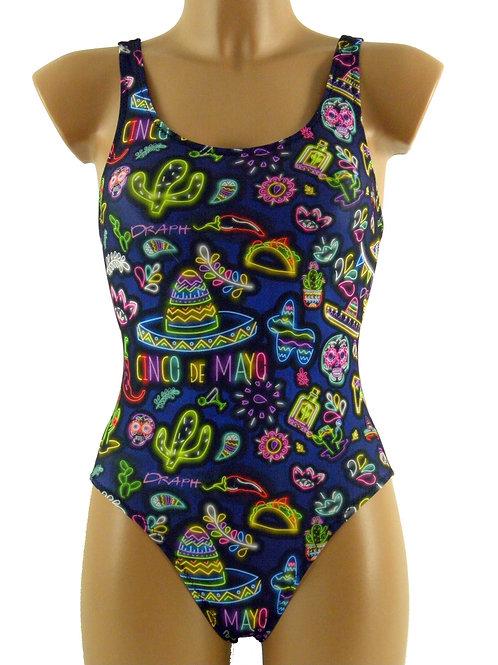 DRAPH costume nuoto olimpionico donna Mexico neon