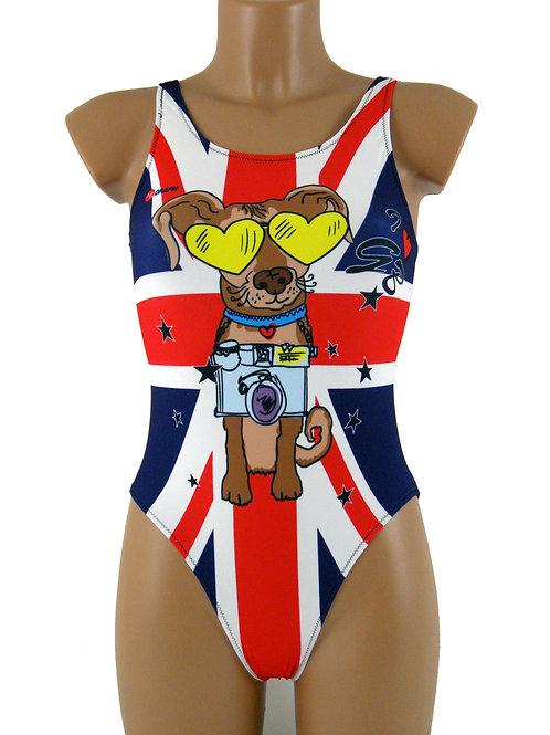 DRAPH costume nuoto olimpionico donna I love GB