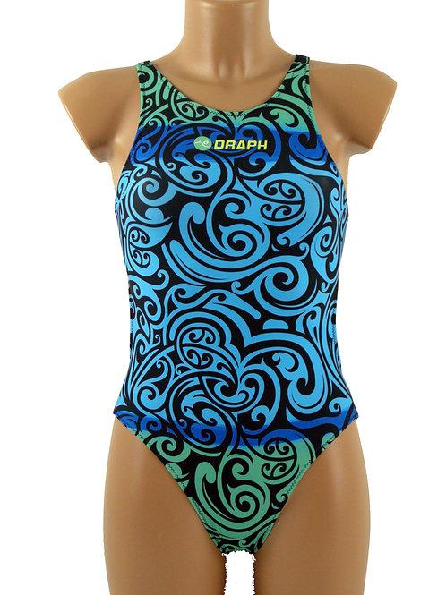 DRAPH costume nuoto Full fit Tribal Ocean