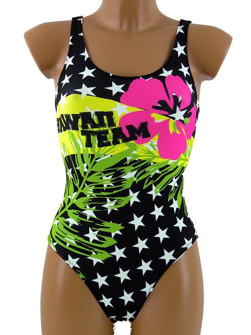 DRAPH costume nuoto olimpionico donna Hawaii team fluo