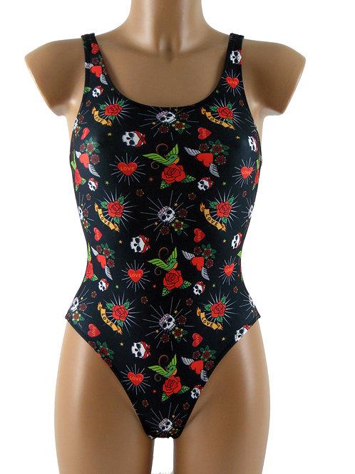 DRAPH costume nuoto olimpionico donna love Skull