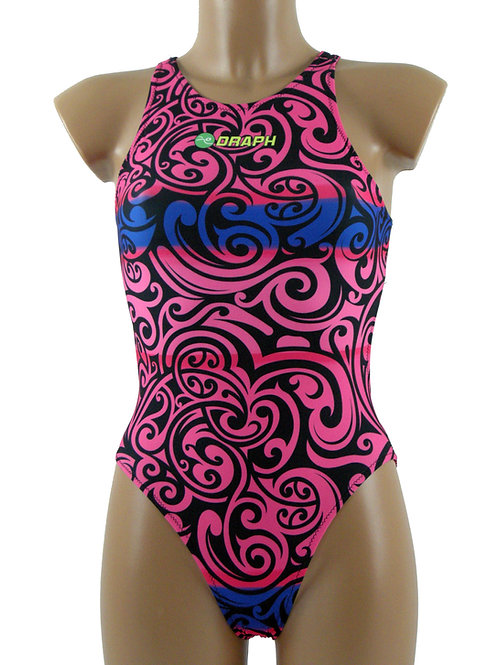 DRAPH costume nuoto Full fit Tribal Pink