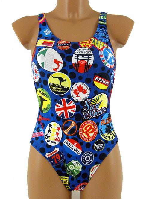 DRAPH costume nuoto olimpionico donna STICKERS