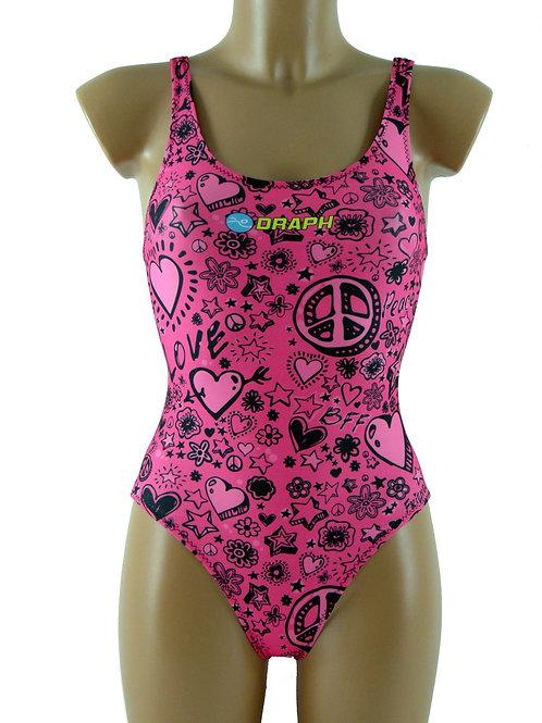 DRAPH costume nuoto olimpionico donna Pink Peace