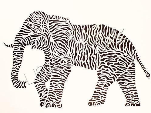 Cut Paper Elephant