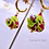 Thumbnail: Sterlingsilber Ohrringe Froschkönig aus Muranoglas, handgefertigt