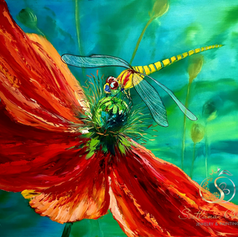 """Libelle aus Amsterdam"", Öl auf Leinwand, Pinsel/Spachtel, 60x70"