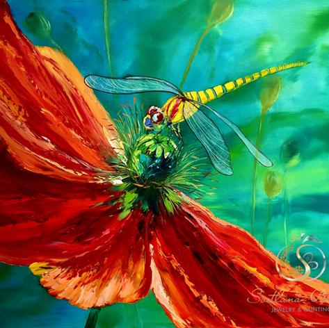 """Libelle aus Amsterdam"", Öl auf Leinwand, Pinsel/Spachtel, 40x60"