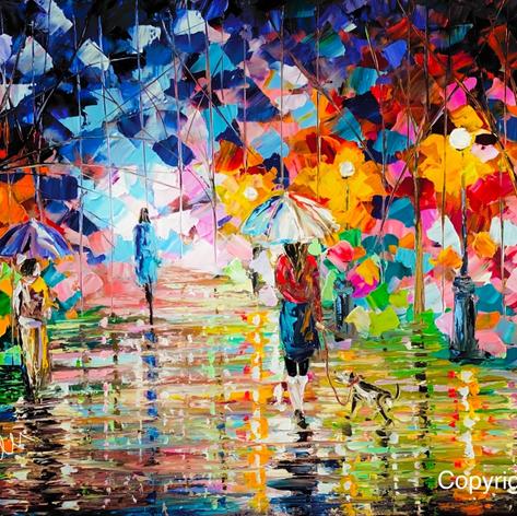 Abstrakte Kunst, Öl auf Leinwand, 40x60