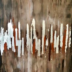 Abstrakte Kunst, Spachtel/Rakeltechnik, 60x80