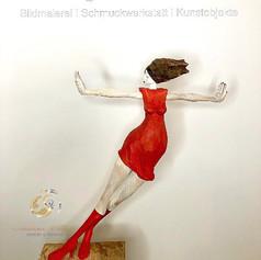 """""""Dominant 3"""", Skulptur in Lindenholz, handbemalt, Stefan Neidhardt, signiert, datiert 2019"""
