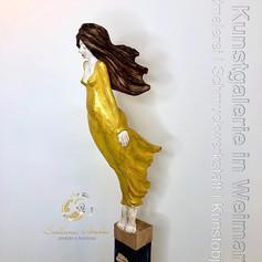 """Gallionsfrau 1"",Skulptur in Lindenholz, handbemalt, Stefan Neidhardt, signiert, datiert 2018"