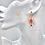 """Thumbnail: """"Spinne"""" Ohrringe mit natürlichen Granatedelsteinen, handgefertigt"""