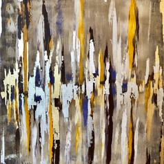 Abstrakte Kunst, Spachtel/Rakeltechnik, 70x80