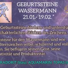 Geburtsteine - WASSERMANN