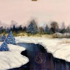 Winterlandschaft II, Öl auf Leinwand, 60x80