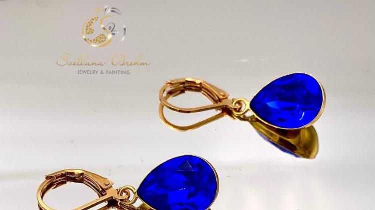 Sterlingsilber Ohrringe mit Swarovski® Kristallen, handgefertigt