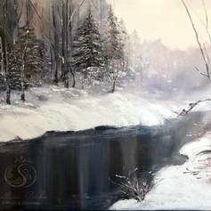 Winterlandschaft, Öl auf Leinwand, 60x80