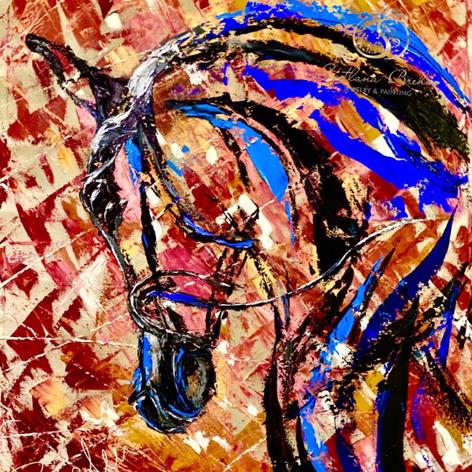Abstrakte Kunst, Öl auf Leinwand, 80x100