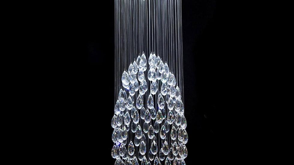 Lustre Cristal Transparente Cascata