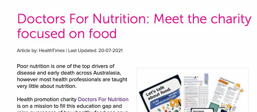 HealthTimes, July 2021