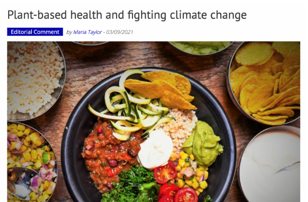Plant-based health and fighting climate change - September 2021