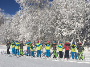 Skitraining auf schmalen Ski...