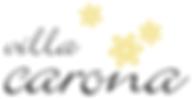 Logo Villa Carona nero su bianco.png