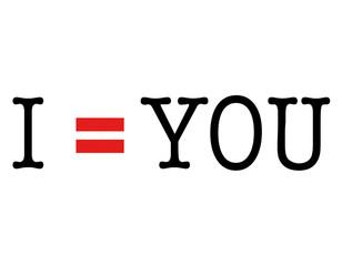 I = YOU 