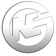 North East Glass Text Gradient Logo to M