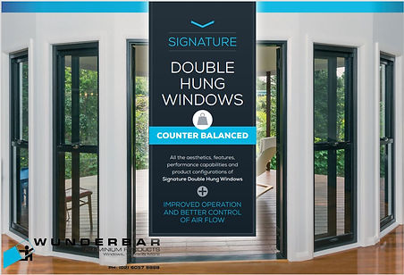 WBR DOUBLE HUNG WINDOWS COUNTERBALANCED