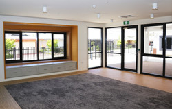 IMG 9306 Thermal break double glazed hinged commercial door with fixed and awning window