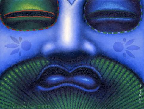 Blue Fan I, 2000