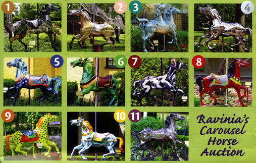 Ravinia Carousel Horse Auction