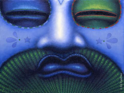 Blue Fan II, 2000