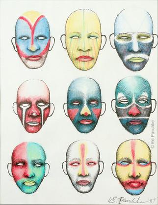 Untitled (Nine Masks Heads), 1987