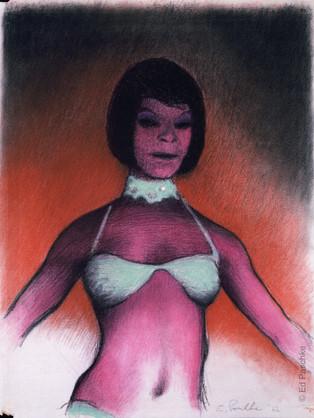 Untitled (Scarlet Girl with White Bikini), 1962