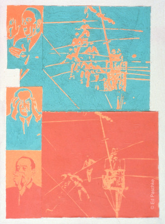 Untitled (Collage Three Heads on High Wire), 1965
