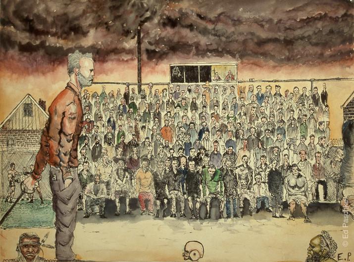 Untitled (Stadium Crowd), 1956