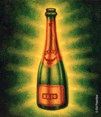 Krug Champagne Bottle
