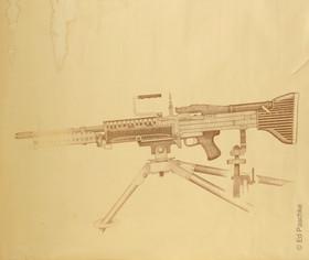 Untitled (Machine Gun), 1963