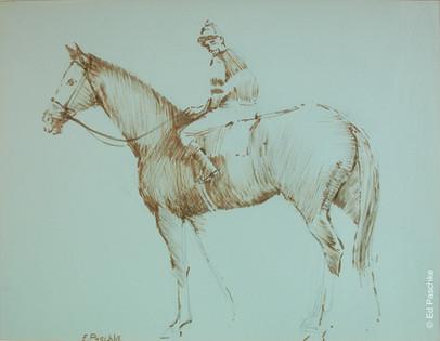 Untitled (Jockey on Horse Standing