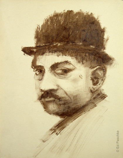 Untitled (Man with Mustache and Hat)