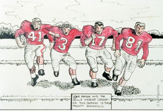 Bulls Football #3, 1956