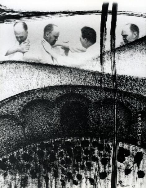 Untitled (Wrestlers & Landscape), 1967